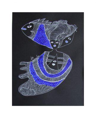 cuba-art-dessin-monochrome-poissons-aconcha