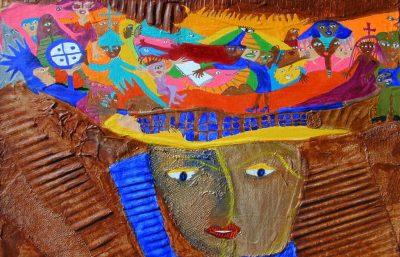cuba-art-tableau-chapeau-orishas-aconcha