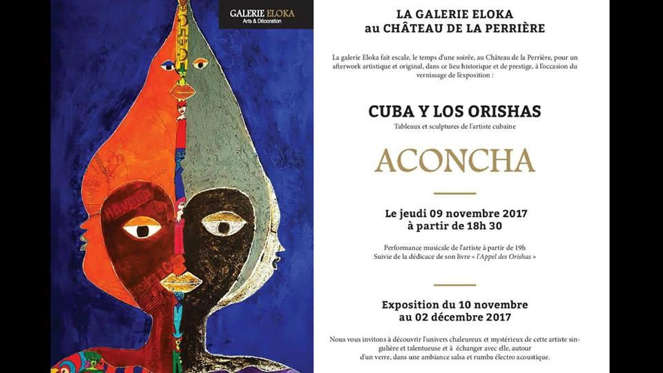 Aconcha. Cuba y los Orishas. Invitation vernissage