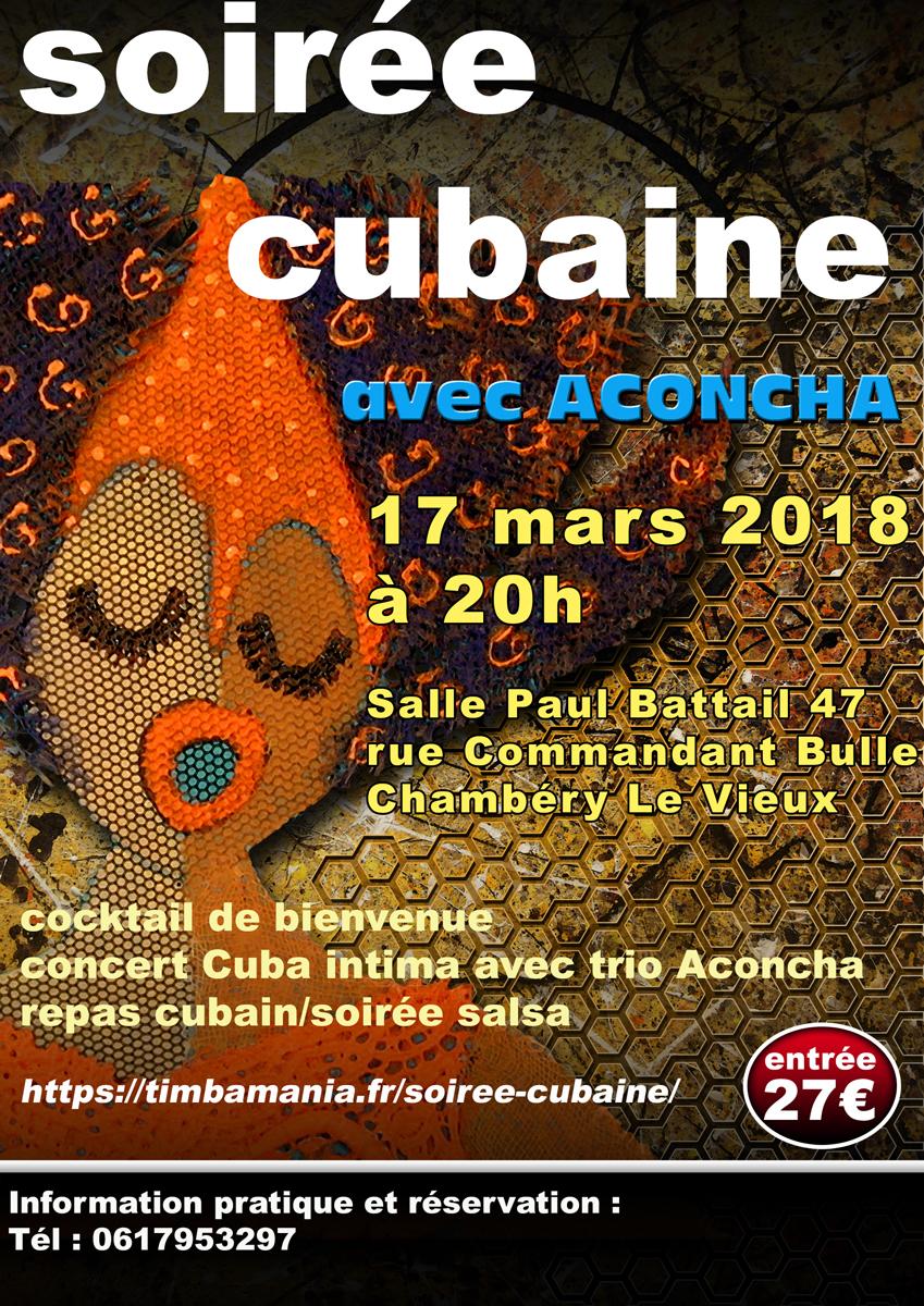 Aconcha. Soiree Cubaine. Chambéry