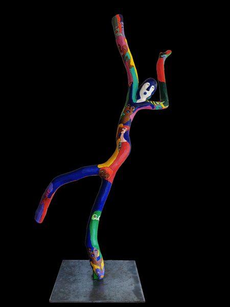 sculpture mouvement 3 noir